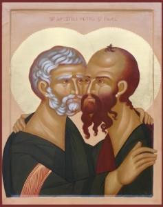 Sfinţii Apostoli Petru şi Pavel sărbătoriţi de creştini