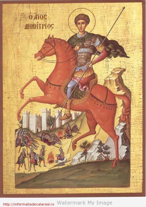 Sfântul Dumitru,istorie,tradiţii şi purtători ai numelui